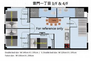 Kaminarimon 4F whole floor 3 bedrooms 2 bathrooms 2 toilets