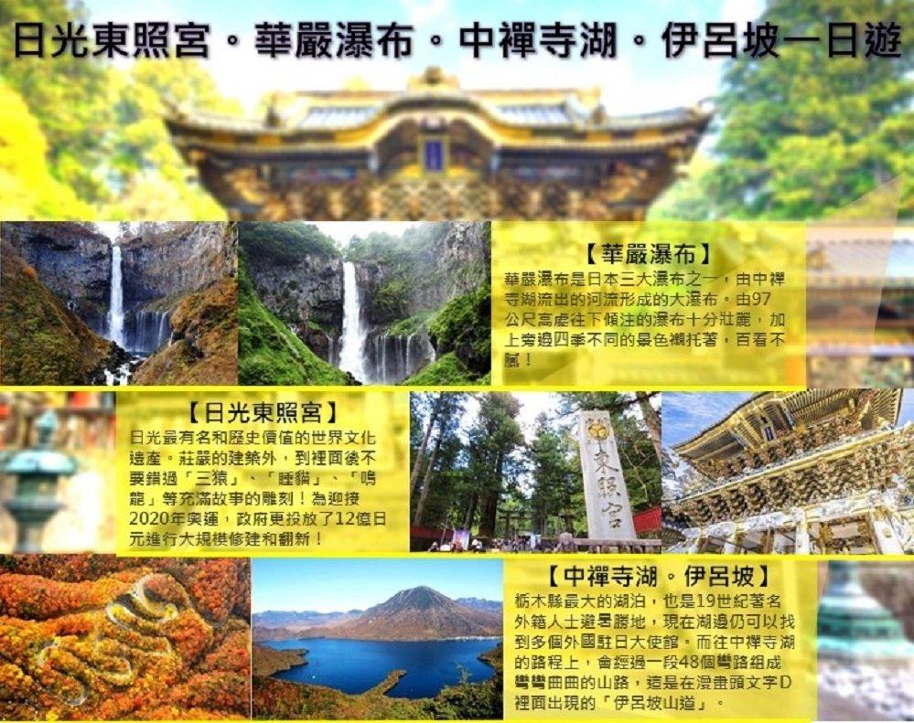 Tochogu Shrine。Kengon Falls。 Lake Chuzenji Day Trip